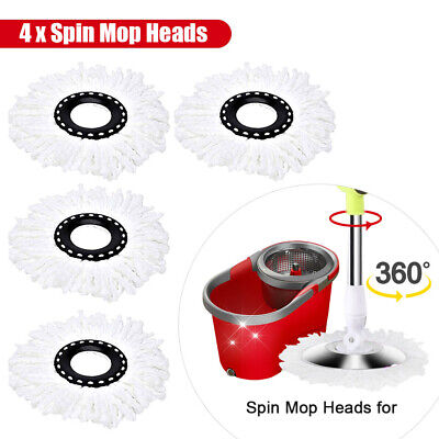 £6.99 • Buy 4PCS Spin Mop Heads Replacement 360 Degree Microfiber Bucket Home Cleaner