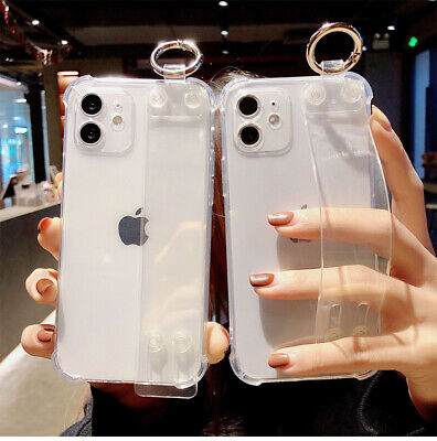 AU5.45 • Buy Shockproof Clear Case Cover With Wrist Strap For IPhone 12 11 Pro Max XS XR 7 8P