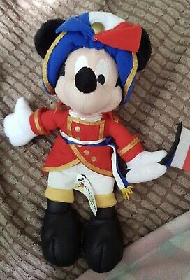 £15 • Buy Disney Mickey Mouse French Soldier Napoleon Bean Bag Plush With Original Tags