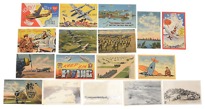 $19.99 • Buy WWII Full Color Army Air Forces AAF Postcard Lot