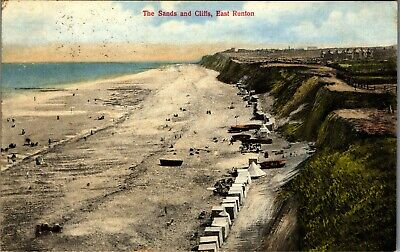 £4.99 • Buy Postcard East Runton Nr Cromer Norfolk The Sands And Cliffs Posted 1914
