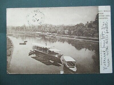 £0.99 • Buy Chester, Steam Passenger Boat On River Dee, P/m 1906 To France