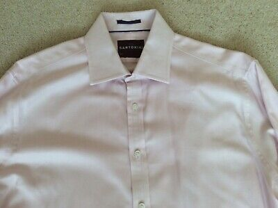 """£1.99 • Buy Mens M&S SARTORIAL, PInk, Double Cuff Shirt.  Size 16.5"""".  Great Condition."""
