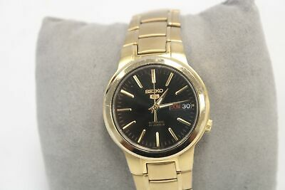 £36.50 • Buy SEIKO 5 Day/Date 21 Jewels Gold Toned Automatic Wristwatch - S22