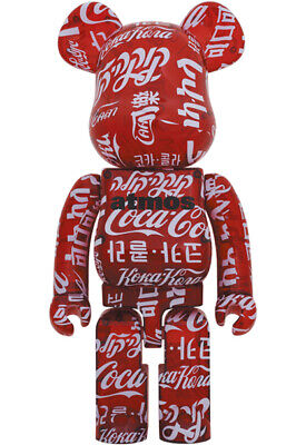 $1338.72 • Buy Bearbrick  Atmos Coca-Cola Clear Red 1000 Medicom Toy Multiple In