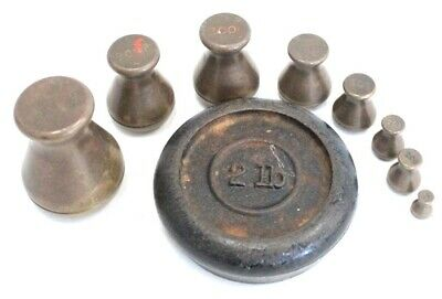 £6.99 • Buy VINTAGE Lot Of Assorted IMPERIAL & METRIC Brass/ Iron METALWARE Weights - B35