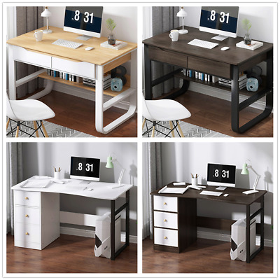 £78.29 • Buy Corner Computer Desk W/ Drawers Laptop PC Table Home Office Study Furniture UK