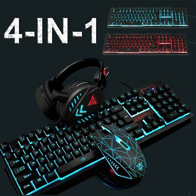 AU36.90 • Buy K59 Gaming Keyboard Mechanical Keyboard And Wired Mouse/Pad Headset 4 IN 1 Set