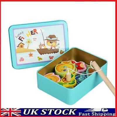 £6.93 • Buy Wooden Magnetic Fish Toys Kids Educational Fishing Magnet Puzzle Game Gifts T#K
