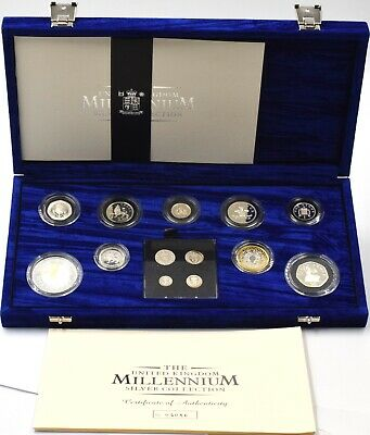 £249.95 • Buy Coin Silver Proof Millennium 13 Coin 2000 Set Maundy Money Royal Mint