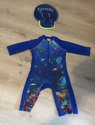 £6.50 • Buy Stunning Ted Baker Boys Sunsafe Swimsuit All In One Worn Once Age 2-3 Years
