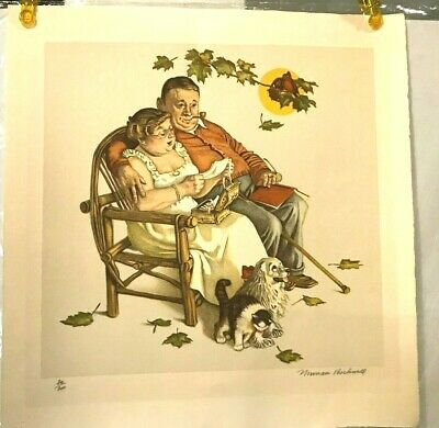 $ CDN1247.63 • Buy Norman Rockwell Four Ages Of Love  Tender Memories   # 30 Out Of 200--signed-