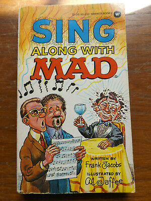£6 • Buy SING ALONG WITH MAD Paperback Book Written By Frank Jacobs