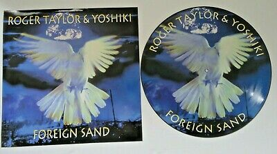 £19.99 • Buy ROGER TAYLOR (QUEEN) YOSHIKI,FOREIGN SAND 12  PICTURE DISC No5299 Ltd EDITION,EX