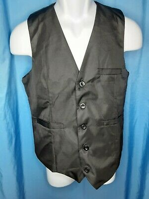 $18.99 • Buy NEW, Men's AOYOG Black Formal Vest With 5 Buttons (S)