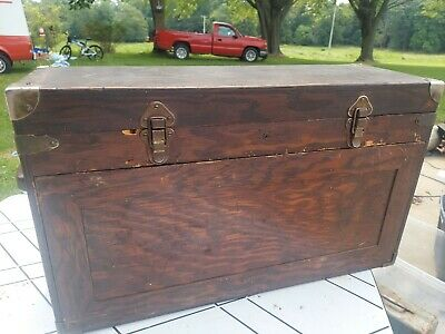 $49.99 • Buy Old Wooden Machinist 7 Drawer Tool Box Toolbox Corbin Latches Check Photo Please