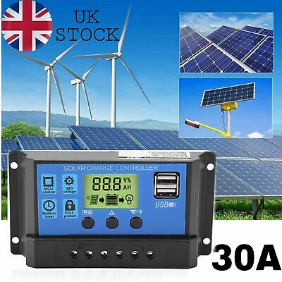 £7.01 • Buy Solar Charge Controller Intelligent Charge Regulator For Solar Panel Battery 30A