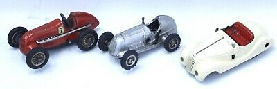 £53 • Buy 3x Vintage SCHUCO Wind-Up Tin Plate Model Cars With Accessories And Tools - SA3