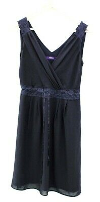 £4.99 • Buy Ladies MEXX Navy Blue 100% Polyester Lace Accent Midi Dress UK Size 10 E20
