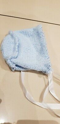 £1 • Buy New Hand Knitted Baby Blue Hand Knitted Hats, Mittens And Booties 0-3,