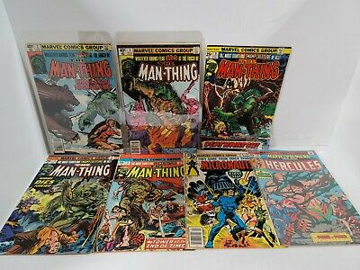 £5.04 • Buy Vintage Marvel Comics The Man-Thing Issues 2,3,9, 10, 14, Hercules, Micronauts