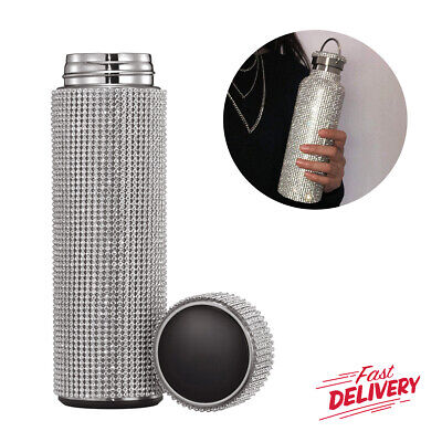 AU37.42 • Buy Insulated Rhinestone Water Mug Thermal Stainless Steel Flask Vacuum Thermos Cup