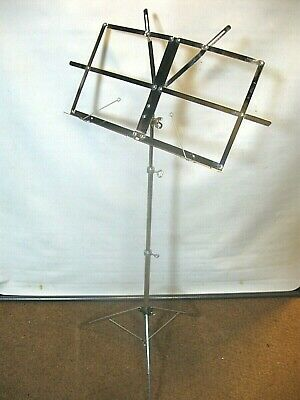 £2.50 • Buy SHEET MUSIC STAND Traditional Easy Fold Up Stand, Chrome