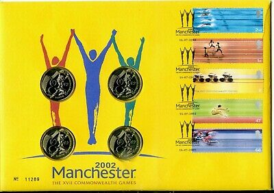 £1.20 • Buy 2002 COMMONWEALTH GAMES GREAT BRITAIN ROYAL MINT/MAIL + UK £2 COINS X4  VGC
