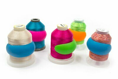 $0.99 • Buy Lot Of 48 Embroidery/Sewing Machine Thread Spools Huggers/Peels Mess Free Thread