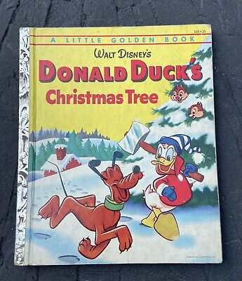 """£1.43 • Buy Little Golden Book Donald Duck's Christmas Tree """"A"""" Edition 1954"""