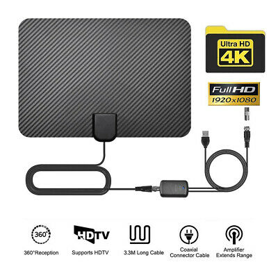 AU15.61 • Buy 200Miles Indoor Digital TV Antenna HDTV HD Aerial Freeview Signal Amplified💥~