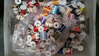 $39.95 • Buy Lot Of 60 Spools Polyester Embroidery Machine Thread 40WT ... Grab A Bag!!!!