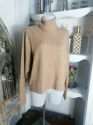 £12 • Buy Nobody's Child Ladies Camel Roll Neck Jumper, Size L RRP £39 Bnwt Polo 14/16