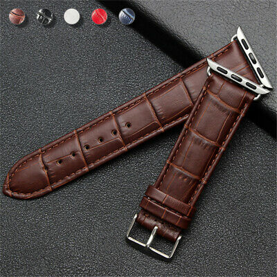 AU17.99 • Buy 38/42/40/44mm IWatch Leather Band Wrist Strap For Apple Watch Series 6 5 4 3 SE