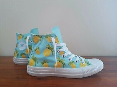 £19.95 • Buy Womens Converse Ct Limited Edition   Pineapple Hi Tops   Dandelion Green Size 4