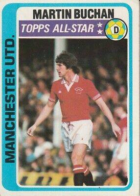£4.25 • Buy 42/topps Chewing Gum Cards 1979 Blue Backs  Manchester United Martin Buchan