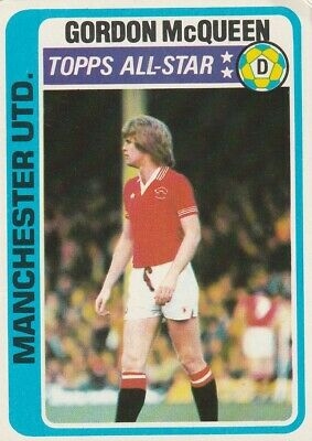 £3.50 • Buy 42/ Topps Chewing Gum Cards 1979 Blue Backs  Manchester United Gordon Mc Queen