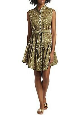 $175 • Buy ZIMMERMANN Carnaby Leopard Print Belted Dress Size 1 Small $595 MSRP