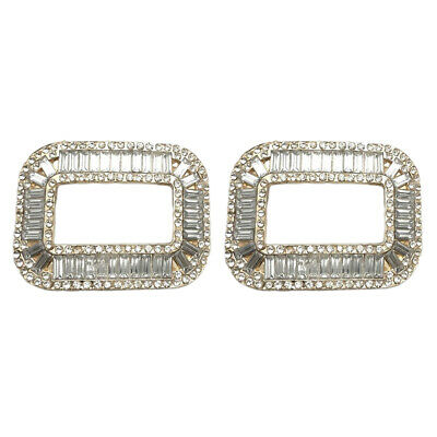 £4.30 • Buy 1 Pair Rhinestone Crystal Shoe Buckle Shoe Clips For Wedding Shoes