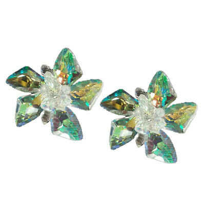 £6.96 • Buy 2x Crystal Shoe Clips Charms Buckle Removable Flower Shoe Hat Bag