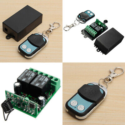 £8.25 • Buy DC12V 2 Channel Wireless RF Remote Control Switch Light Receiver Transceivers