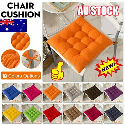 AU14.35 • Buy Indoor Outdoor Dining Garden Patio Kitchen Office Chair Seat Pads Cushion QC