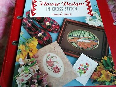 £1.25 • Buy Counted Cross Stitch Chart Booklet Flower Designs By Christina Marsh
