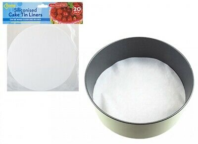 £5.99 • Buy Large 23cm Siliconised Round Cake Liners Paper, Re-usable - Oven - Microwave