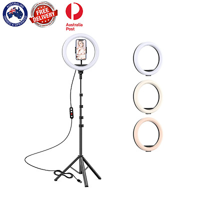 AU22.50 • Buy 10  Selfie LED Ring Light With Tripod Stand For Phone Live Stream Makeup Desktop