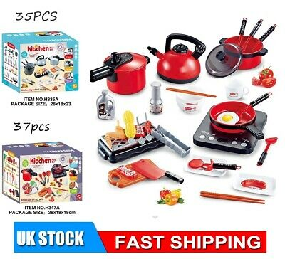 £11.99 • Buy Children Kids Kitchen Toy Set Role Play Pretend Cooking Pots Pans Gift UK