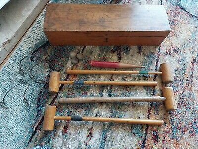 £39.99 • Buy Victorian Childs Wooden Croquet Set Boxed