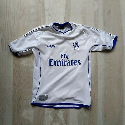 £11.51 • Buy Chelsea Jersey Away Football Shirt 2001 - 2003 White Umbro Young Size S