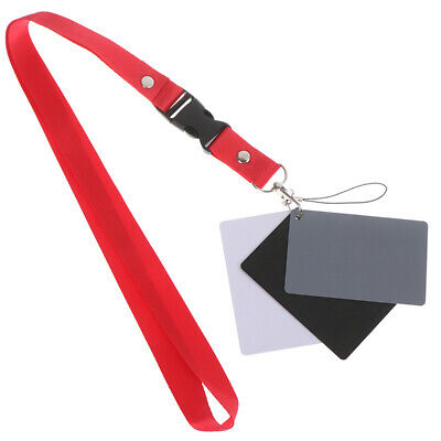 £2.80 • Buy 3 In 1 White Black 18% Gray Color Balance Cards Digital Grey Card & Neck StFRMG