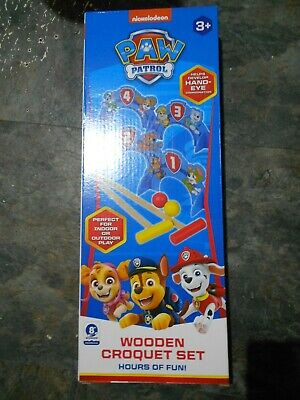 £6.80 • Buy Paw Patrol Wooden Croquet Game Set New